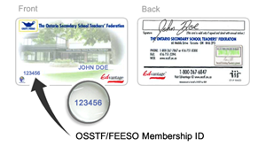 OSSTF Membership ID Card